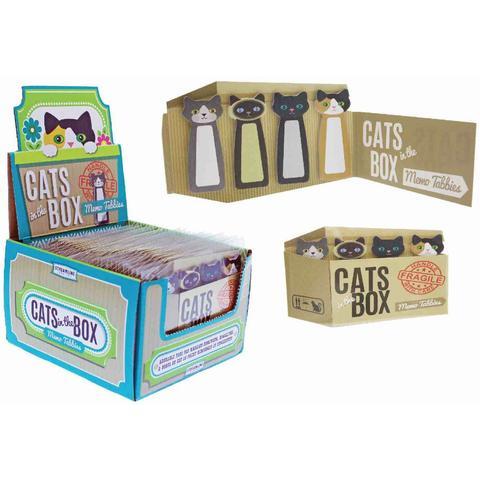 Fleurish Home Cats In The Box Memo Tabbies
