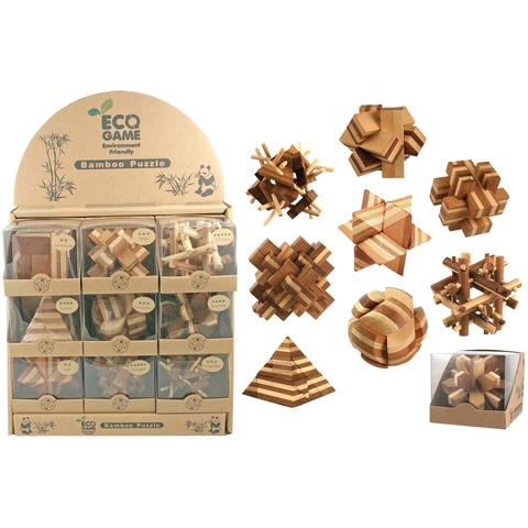 Fleurish Home Bamboo Puzzle (choice of 9 styles)