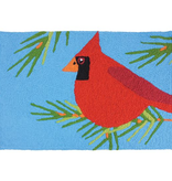 Jellybean Cardinal Perched In Pines Rug