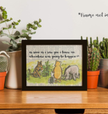 Fleurish Home As Soon As I Saw You I Knew... - Winnie The Pooh: 5x7 Framed Print