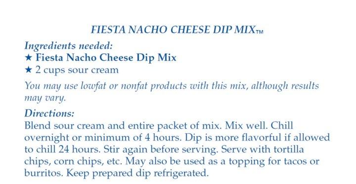 Country Home Creations Fiesta Nacho Cheese Dip Mix