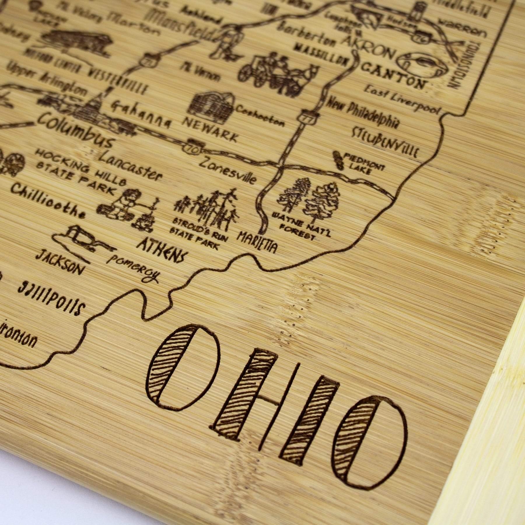 Fleurish Home A Slice of Life Ohio Wood Board