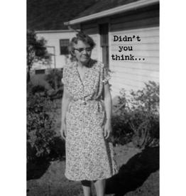 Trash Talk by Annie Trash Talk Greeting Card - Growing Old