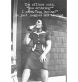 Trash Talk by Annie Trash Talk Greeting Card - Bail Money