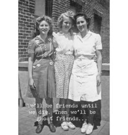 Trash Talk by Annie Trash Talk Greeting Card - Ghost Friends