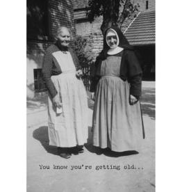 Trash Talk by Annie Trash Talk- Greeting Card - Getting Old