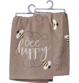 Fleurish Home Dish Towel- Be Happy Big Bee