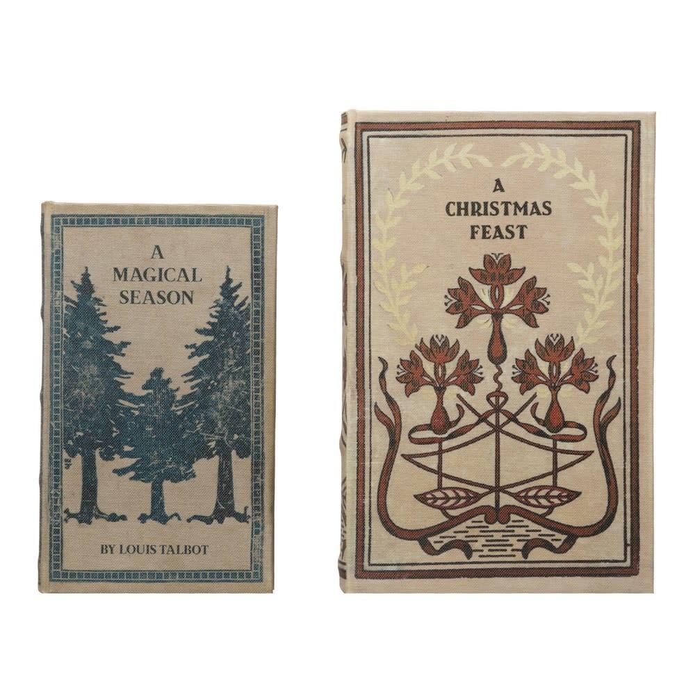 Fleurish Home Lg Canvas Book Storage Box, A Christmas Feast