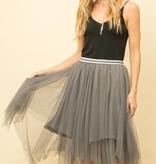 Fleurish Home Grey Tulle Skirt