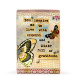 Fleurish Home Live with Kindness Plaque