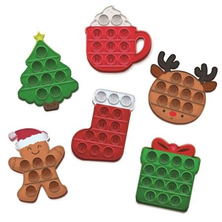 Top Trenz OMG Pop Fidgety MINI's - Christmas Edition (your choice of 6 styles)
