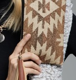 Fleurish Home Western Print Wallet Clutch Bag