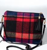 Fleurish Home Plaid Crossbody/ Clutch Bag w Tassel