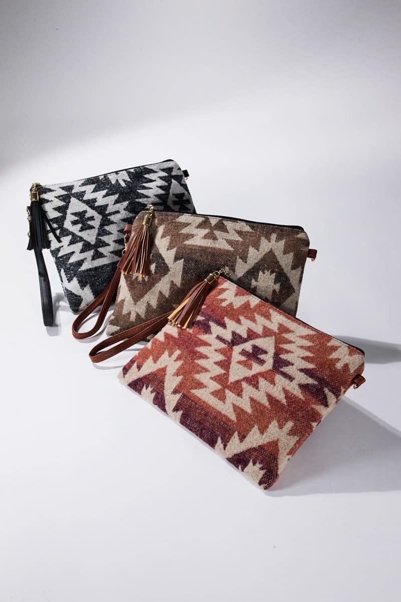 Fleurish Home Western Print Crossbody/ Clutch Bag