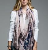 Fleurish Home Lightweight Chevron Tie Dye Scarf Blush/Grey