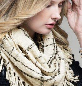 Fleurish Home Solid Plaid Infinity Knit Scarf