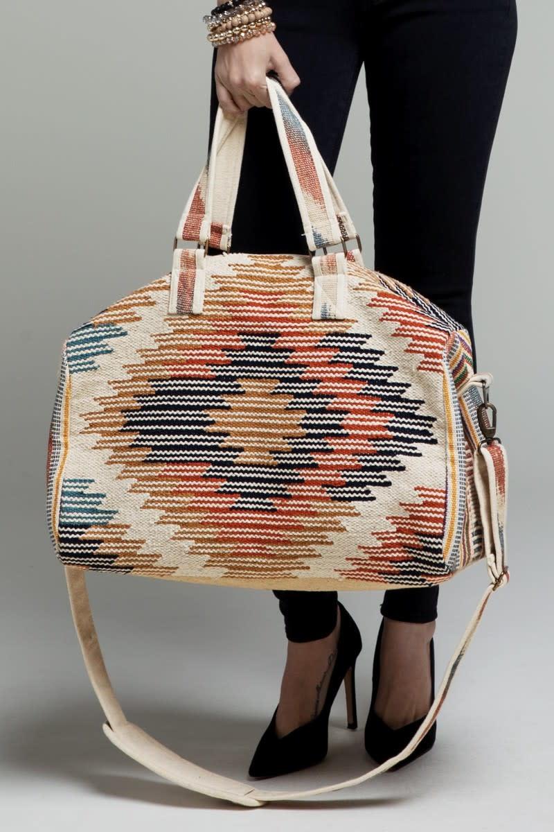 Fleurish Home Handmade Ethnic Duffel Bag