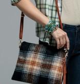 Fleurish Home Plaid Print Crossbody/ Clutch Bag
