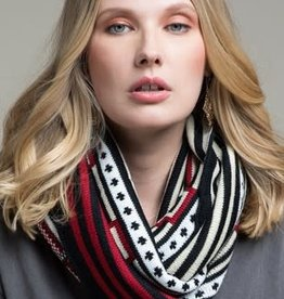 Fleurish Home Western Print Knit Infinity Scarf