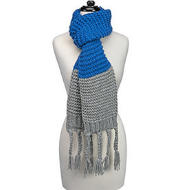 Fleurish Home Knitted Scarf Royal Blue