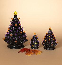 Fleurish Home Small Old Fashioned Style Ceramic Halloween Tree w Colored Lights (B/O)