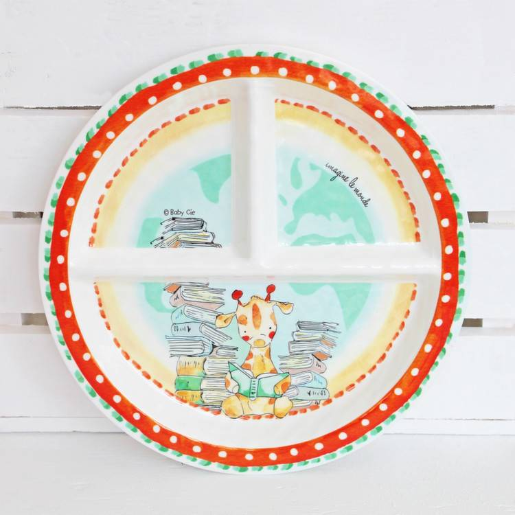 Baby Cie Melamine Section Plate *last chance