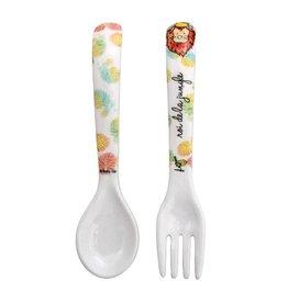 Baby Cie Melamine Fork & Spoon Set