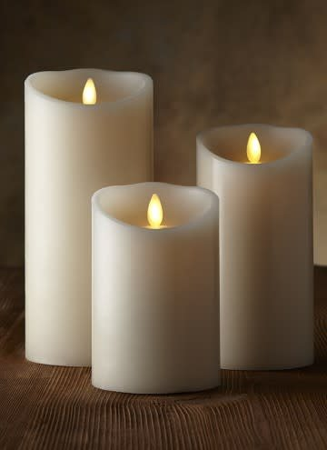"Fleurish Home 5"" Luminara Pillar Candle w Timer & Batteries"