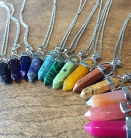 Fleurish Home Crystal Stone Healing Necklace