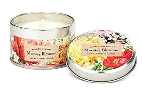Michel Design Works Morning Blossoms Travel Candle *discontinued