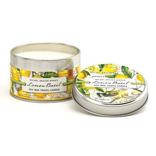 Michel Design Works Lemon Basil Travel Candle