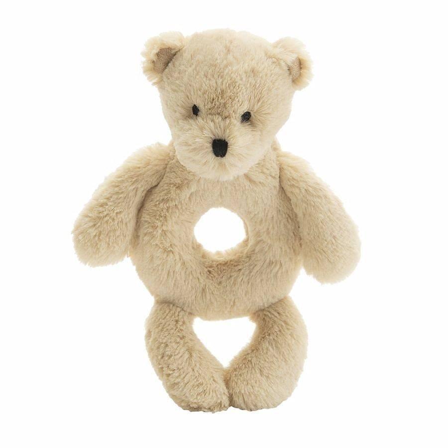 Jellycat Bashful Honey Bear Ring Rattle