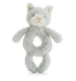 Jellycat Bashful Grey Kitty Ring Rattle *discontinued