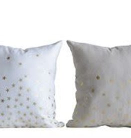 Fleurish Home Ecru Pillow w Gold Stars