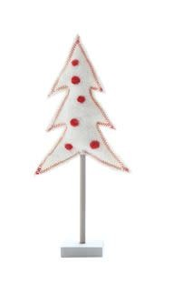 Fleurish Home Sm Wool Felt Tree w Red Polka Dots