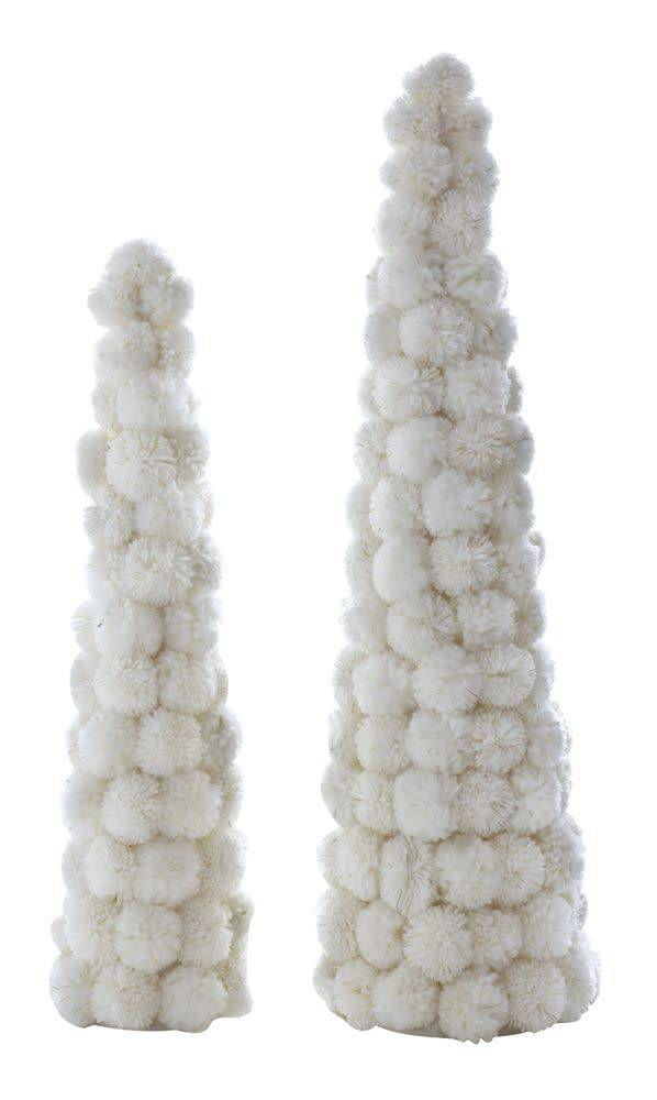 Fleurish Home Lg Cream Pom Pom Tree