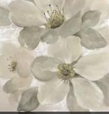 Fleurish Home White on White Floral I Wall Art 24x24