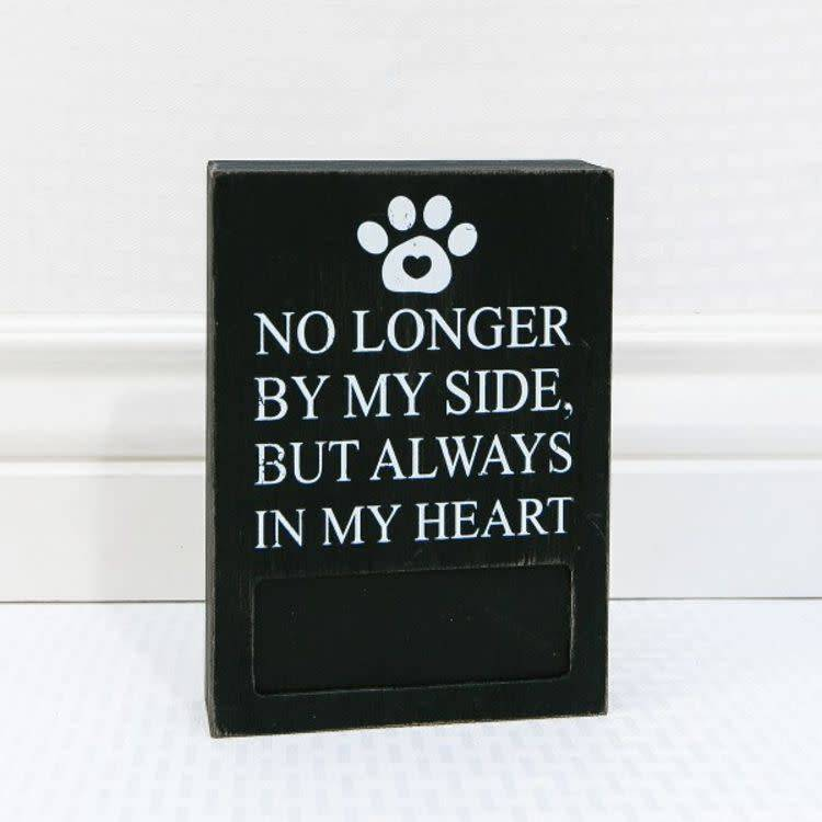 By My Side Pet Photo Sign 5x7