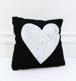 Fleurish Home Black & White Heart Pillow