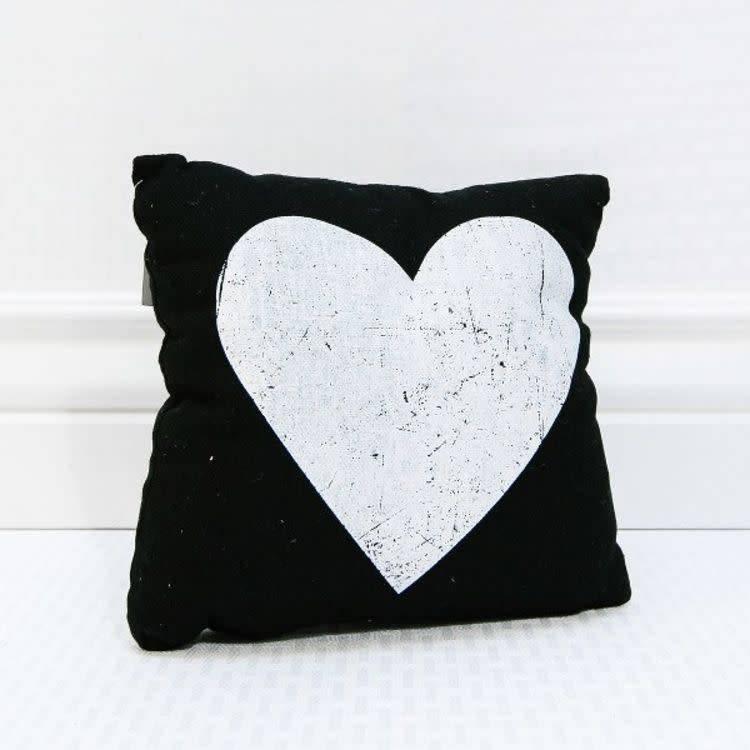 Fleurish Home Black & White Heart Pillow