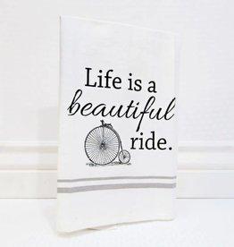 Fleurish Home Beautiful Ride High Wheel Tea Towel