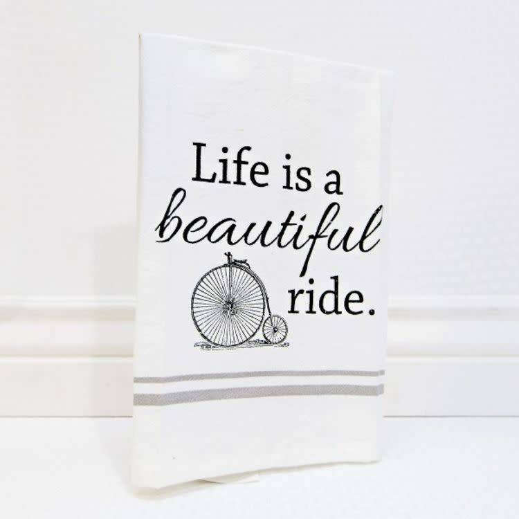 Fleurish Home Beautiful Ride High Wheel Tea Towel