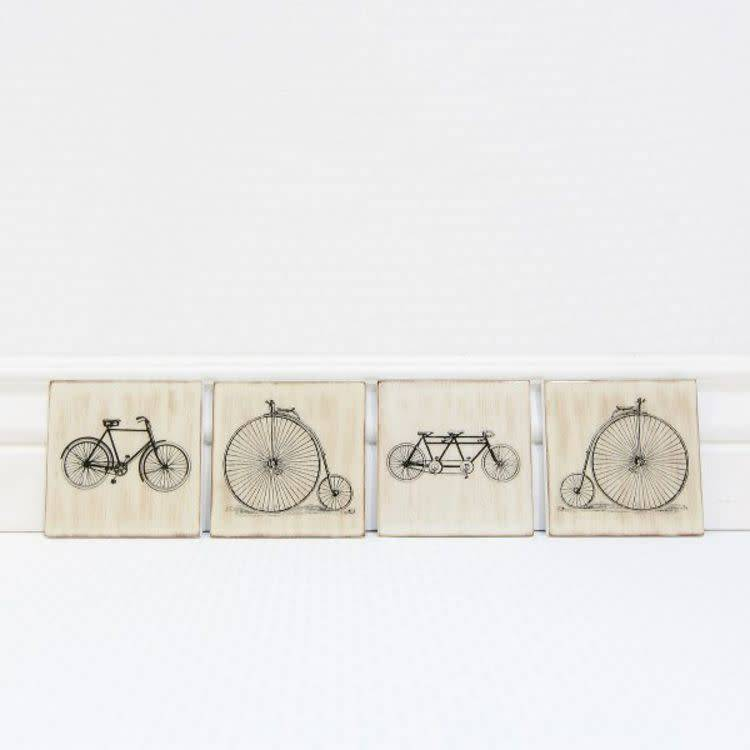Bicycle Wood Coaster (4 styles)