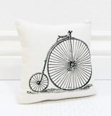Fleurish Home High Wheel Bicycle Pillow