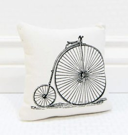 Fleurish Home High Wheel Bicycle Pillow