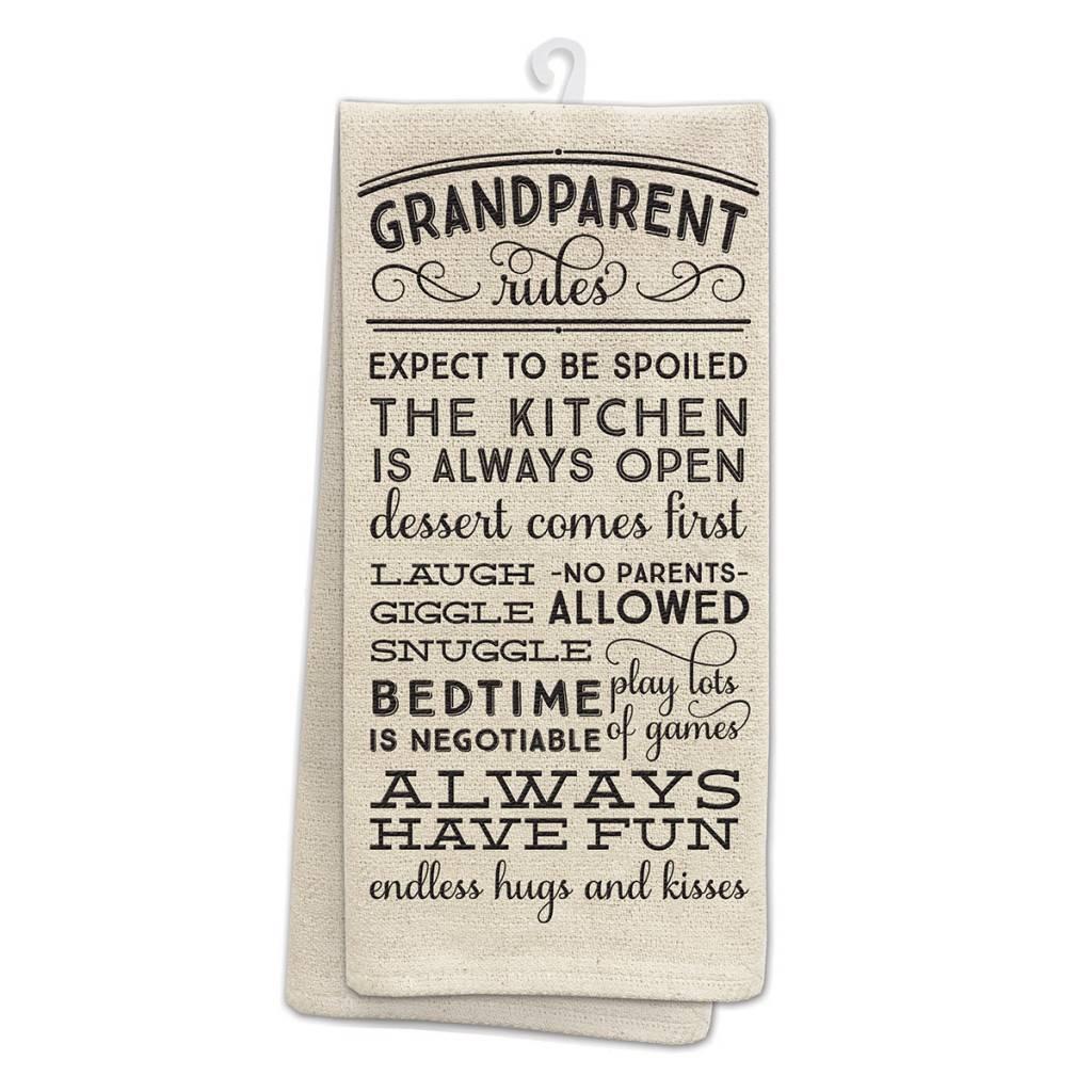 Fleurish Home Grandparent Rules Kitchen Tea Towel