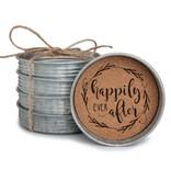Fleurish Home Mason Jar Lid Coaster Set Happily Ever After