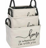 Fleurish Home Canvas Storage Bin