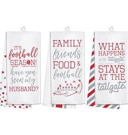 Fleurish Home Football Gameday Tea Towel Red & Grey (3 styles)