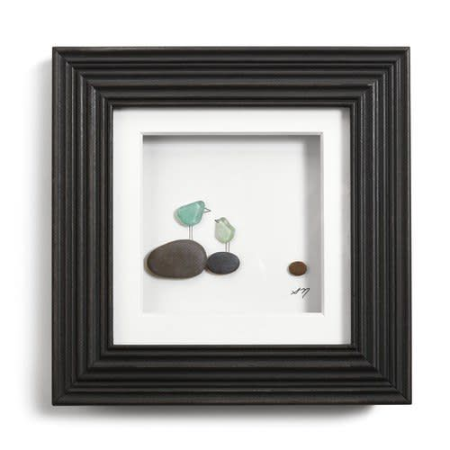 "Fleurish Home Once Upon a Pebble Wall Art 6"" Square"